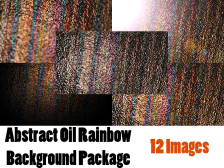 Grunge Oil Rainbow Background Package 12 Images